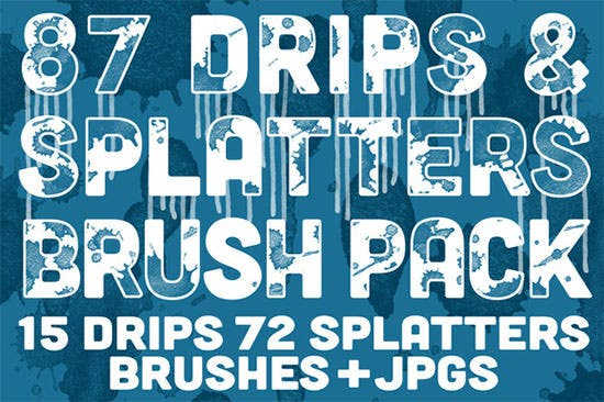 drips splatters brush pack