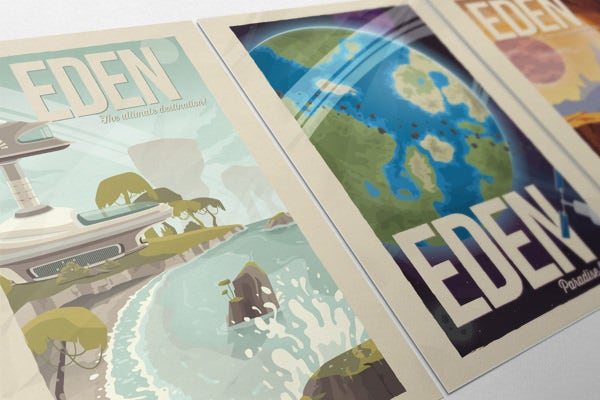 EDEN: Retro Travel Posters