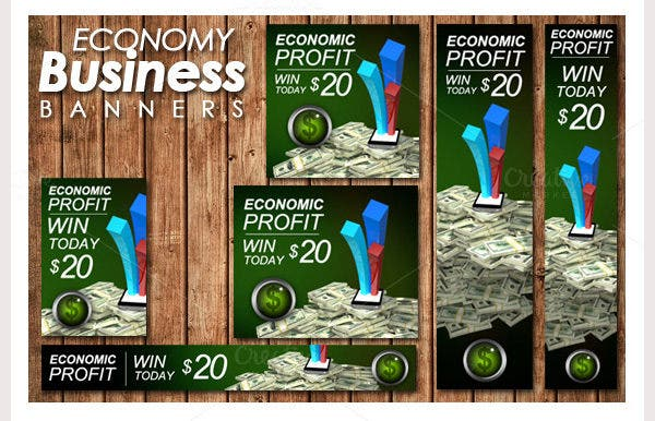 economy business banners ads