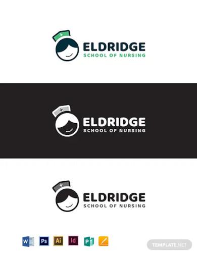 eldridge school of nursing logo template