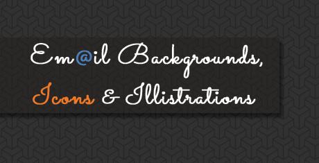 emailbackgroundsiconsillistrations
