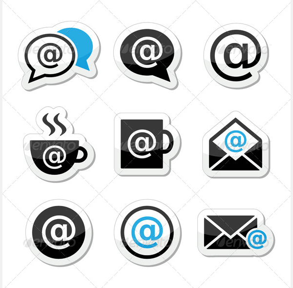 email internet cafe wifi vector icons