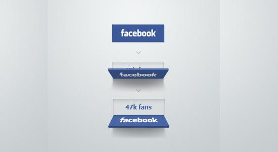 facebook button ui concept