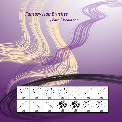 fantasy hair brushes