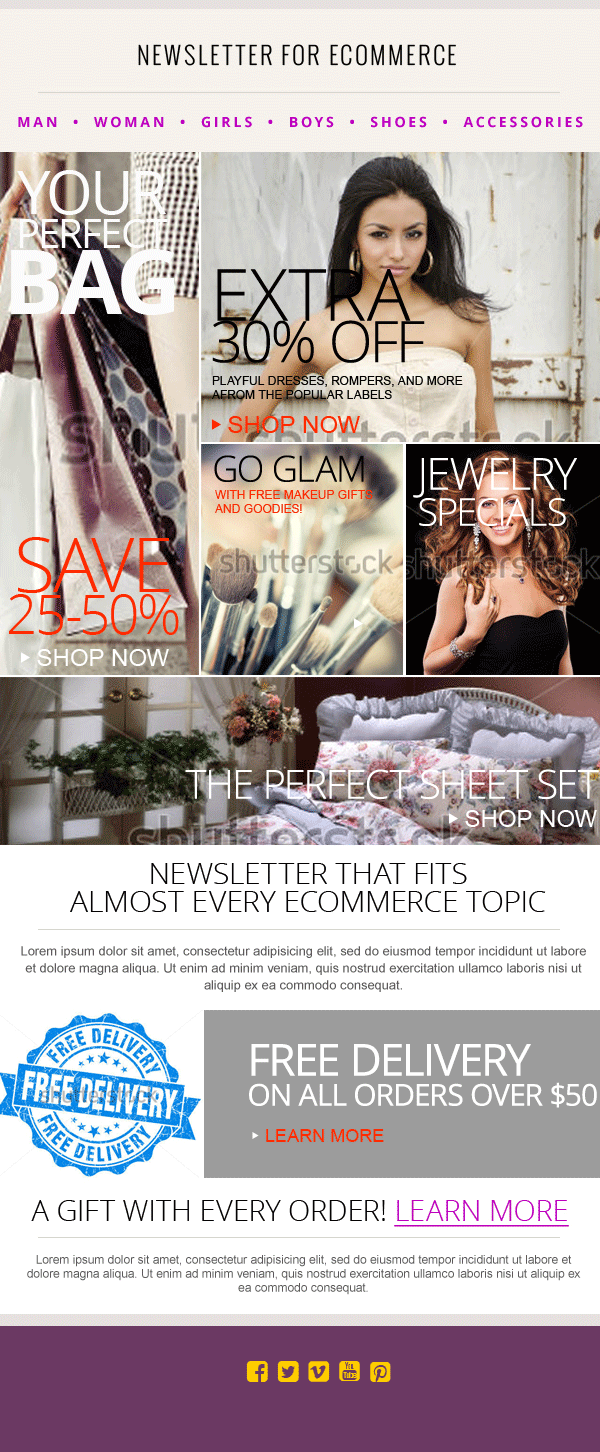 fashion ecommerce newsletter psd 2