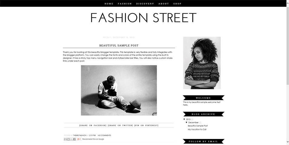 Fashion Blogger Templates Fashion Blog Website Templates & Themes | Free & Premium ...