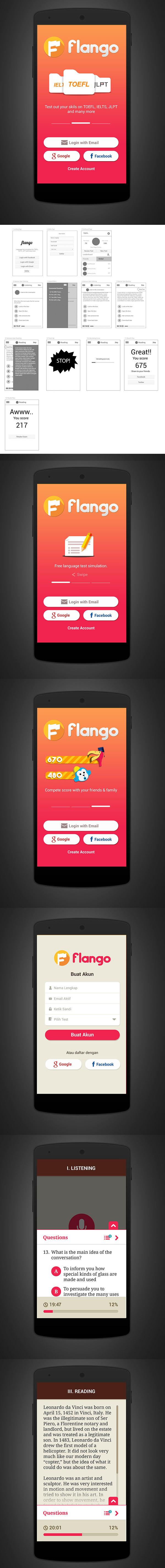 flango app design concept