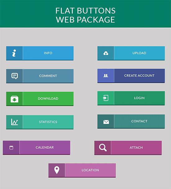 flat buttons web pack