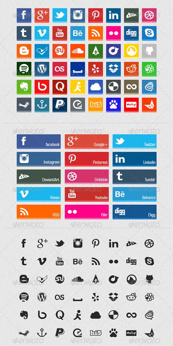 flat social network