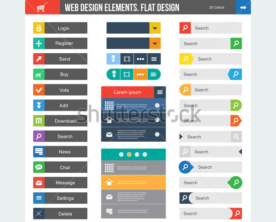 flat web design elements11