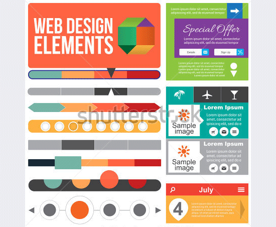 flat web design elements2