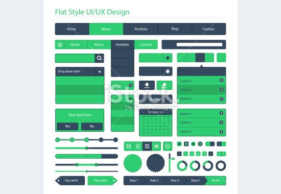 flat style ui design