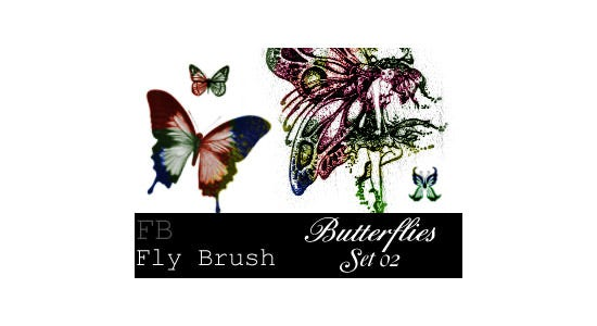 fly brush butterfly