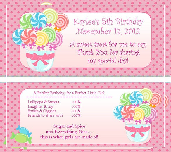 free candy land candy bar wrapper design