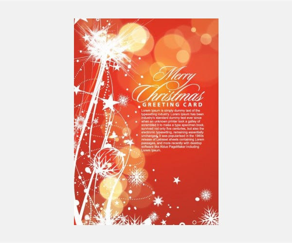 Vector Christmas Merry Christmas Greeting Card Vector Illustration