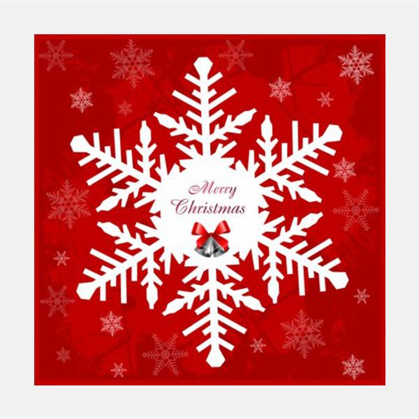 Vector Christmas big snowflake