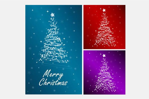 Vector Christmas starlight christmas tree vector