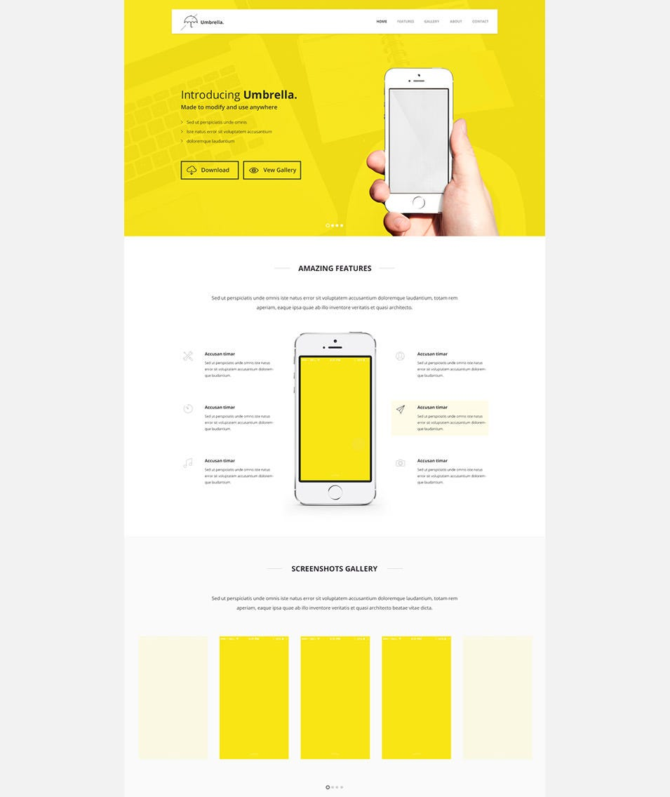 freebie umbrella ultimate app landing page