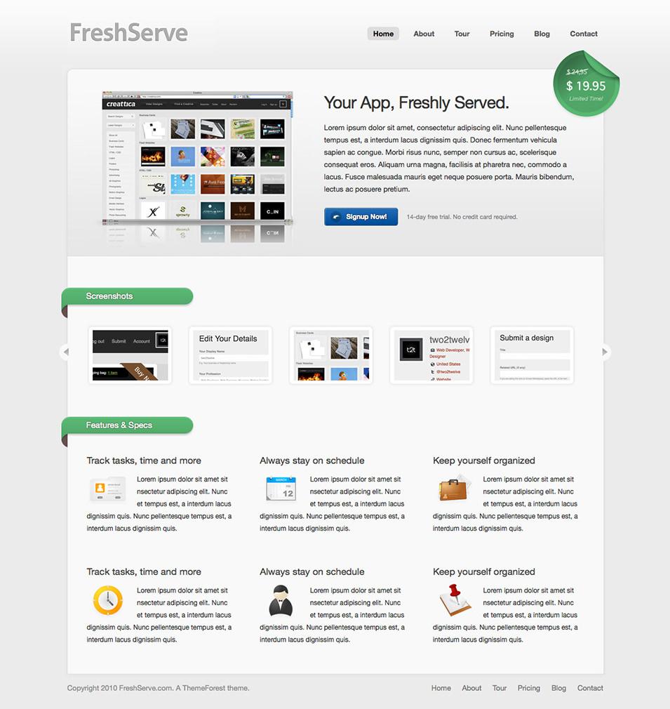 FreshServe - A Web App