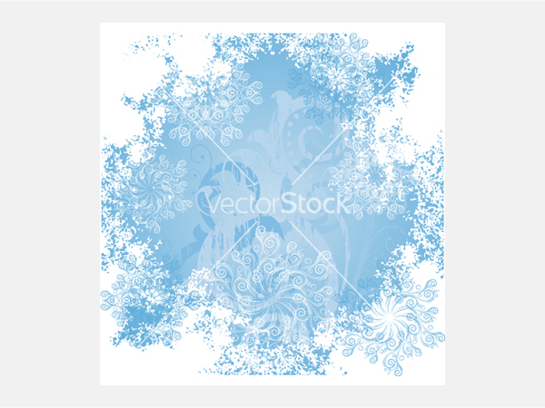 Frosty patterns vector