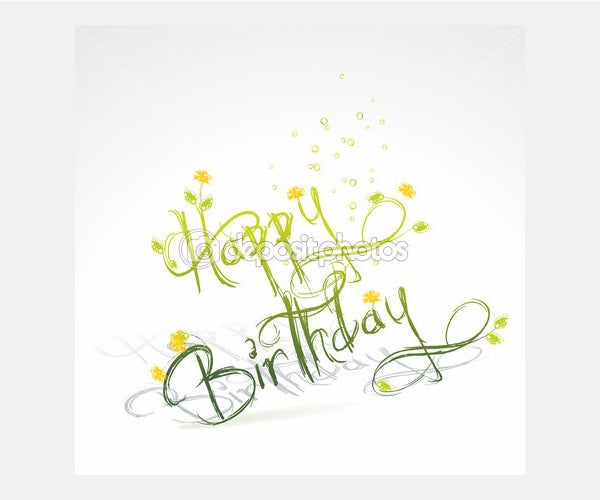 Funny Birthday card - Stock Illustration