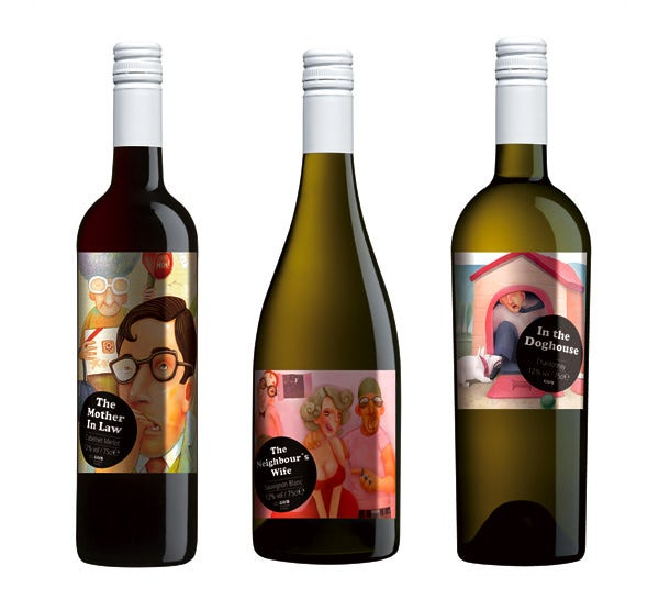gb wine label design