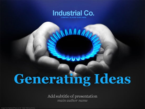 gas company powerpoint template