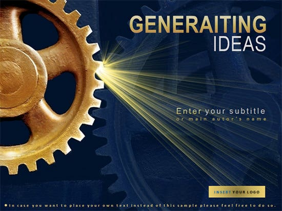 generating ideas powerpoint template