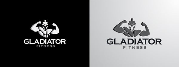 gladiator fitness logo design copy