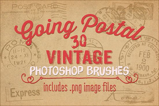 going postal vintage ps brushes1