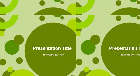 green circles design ppt template
