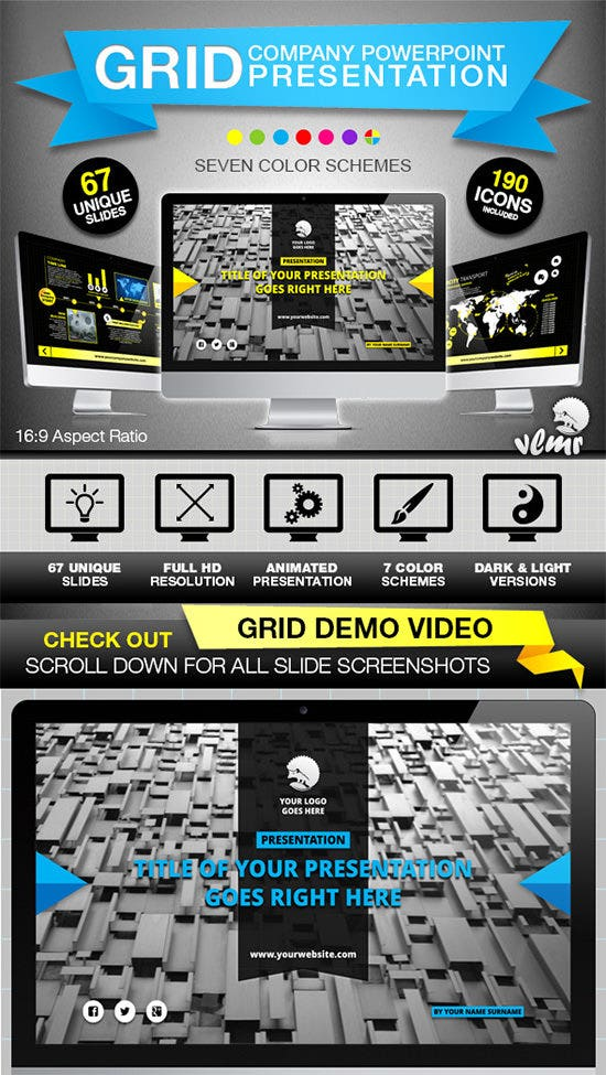 grid company ppt template