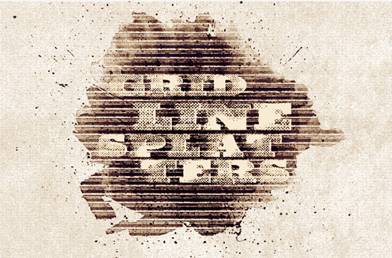 grid line splatter brushes
