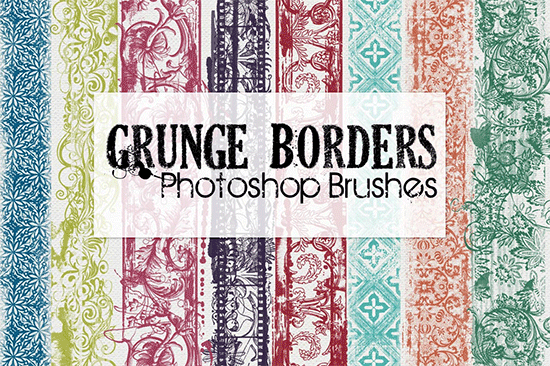 grunge border photoshop brushes