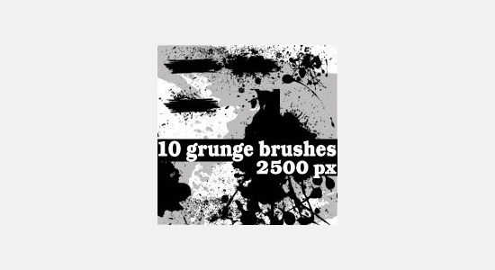 grunge photoshop brushes1