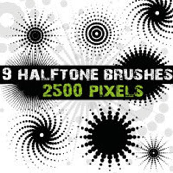 halftone dots brushes for photoshop