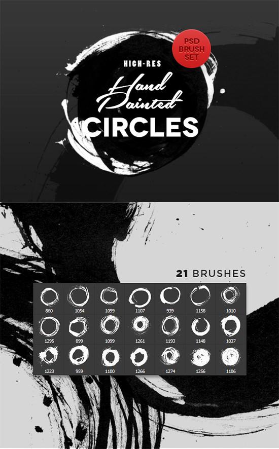 hand painted circles