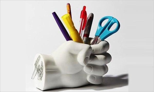hand pen paper holder