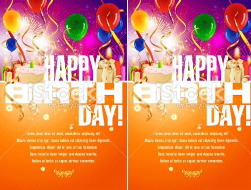 happy birthday background illustration