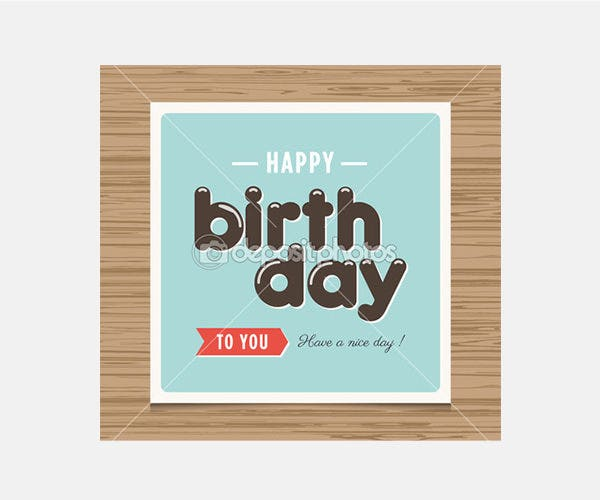 Happy birthday card - Stock Illustration