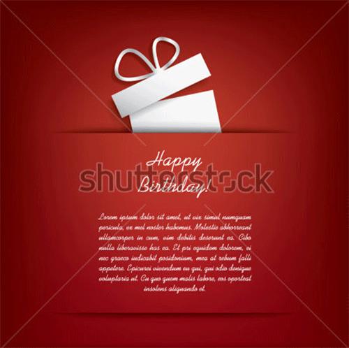 happy birthday card concept