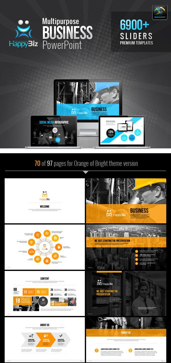 happybiz business ppt template