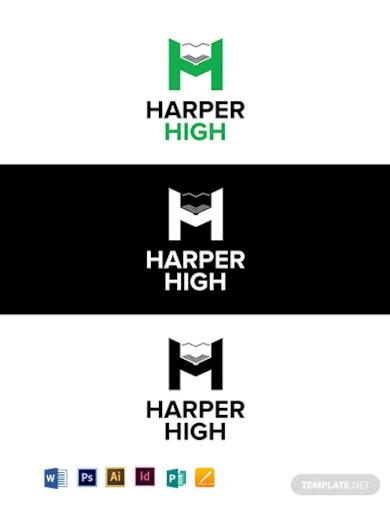 harper high school logo template