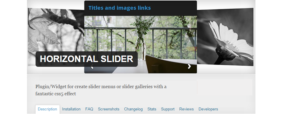 horizontal slider1