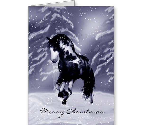 Horse Christmas Card