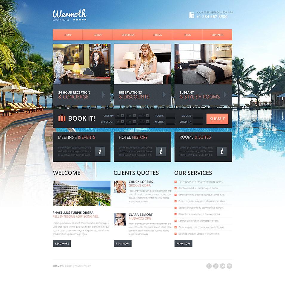 hotels drupal template 48644