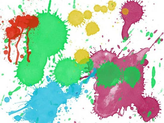inks splatter