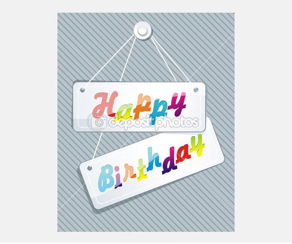 Illustration of birthday card - Stock Illustration