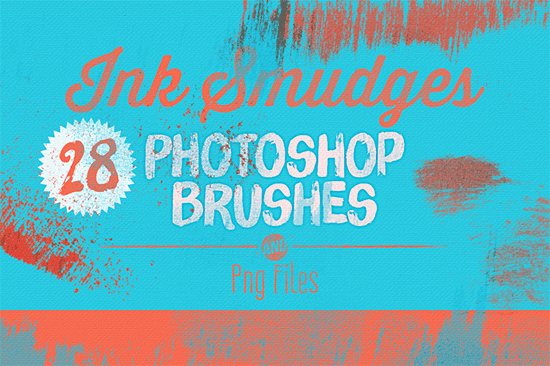 ink smudges photoshop brushes