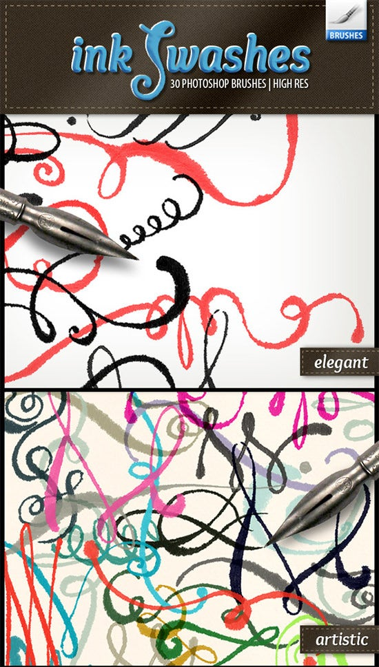 ink swashes brushes1